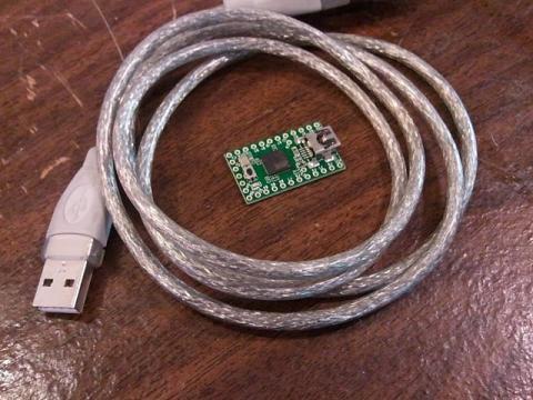 Teensy is teensy!  Smaller than a USB plug!