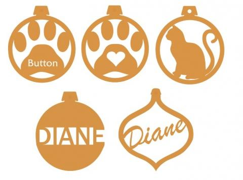 Sample Ornaments for the Laser
